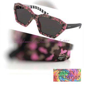 New Prada Camouflage Sunglasses  Pink/Black/Brown
